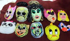 old plastic halloween masks pictures to pin on pinterest
