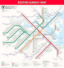 Toronto Subway Map Boston Subway Map Lines Stations And Interchanges