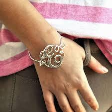 monogram initial bracelet monogram initial script bracelet jewels