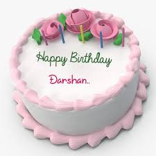 write name on pink floral toppins happy birthday cake gaurav