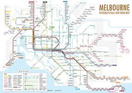 melbourne tram map melbourne integrated rail and tram map melbourne australi flickr
