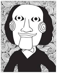 horror jigsaw billy the puppet halloween coloring pages for