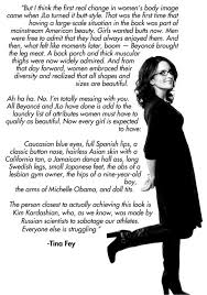 Tina Fey Meme - tina fey on women and body image from bossypants brittany
