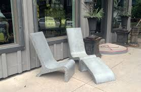 custom made concrete adirondack chair by masonry and metal l p