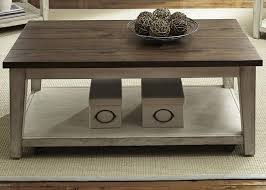 Weathered Wood Coffee Table Liberty Furniture Lancaster 2 Piece Coffee Table Set In Weathered