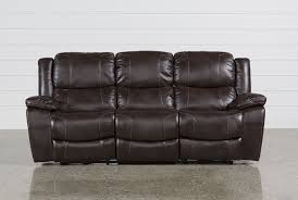 Power Sofa Recliners Leather by Sampson Power Reclining Sofa Living Spaces