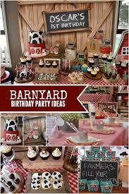 1st birthday boy themes rustic barnyard themed birthday party party ideas