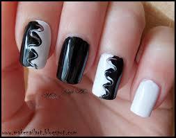 make nail art black and white swirl nail art tutorial 2 marble