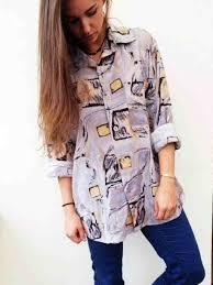 oversized blouse blouse vintage shirt retro oversized vintage wheretoget