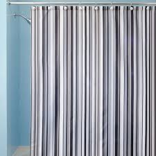 Vertical Striped Shower Curtain Bathroom Classic Style With Black And White Striped Shower