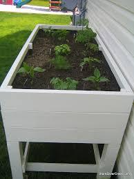 herb garden planters box home outdoor decoration