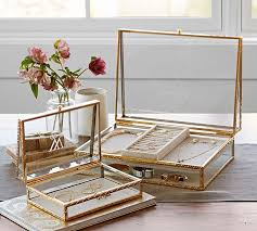 personalized jewelry box antique gold jewelry boxes pottery barn