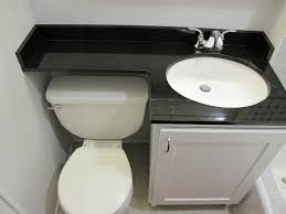 Very Small Bathroom Ideas by Upstairs Bath Extended Counter Space Black White Would Be Better