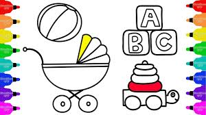 baby toys stroller accessories for dolls coloring pages and