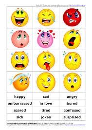 english is fun feelings face cards