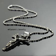 stainless steel necklace pendants images Inri jesus piece trendy punk vintage cross gift hip hop rock mens jpg