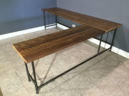 Narrow Reception Desk Best 25 Reclaimed Wood Desk Ideas On Pinterest L Rustic Shaped