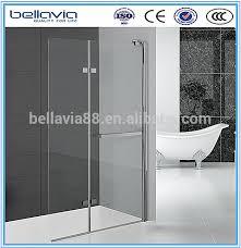 bathroom cubicles 6mm clear glass pivot folding glass doors shower