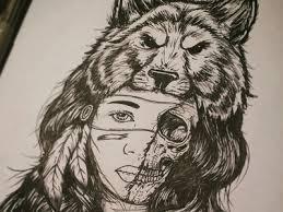 wolf headdress by johnathon burns dribbble