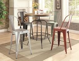 buy pair of lahner metal counter height chair in blue by coaster