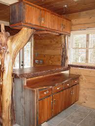 shaped kitchen island made of cedar tree designs pinterest wooden bar design best home design ideas sondos me