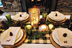 impressive rustic christmas table settings design decorating