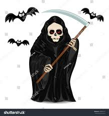 free halloween images on white background grim reaper halloween isolated on white stock vector 499820137