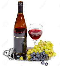 beautiful still life a bottle of wine glass and grapes on