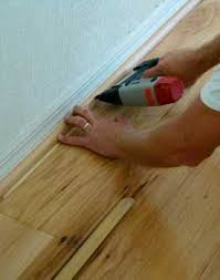 Hardwood Floor Nails Installing Quarter Round Moldings
