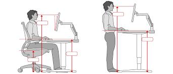 proper height for standing desk enchanting ergonomic standing desk setup ergonomic office desk chair