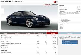 2012 porsche 911 s price 2012 porsche 911 configurator powers up the torque report