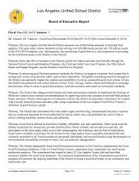 how to write a resolution paper los angeles unified school district good food procurement los angeles unified school district good food procurement resolution 2014 zimmer center for good food purchasing