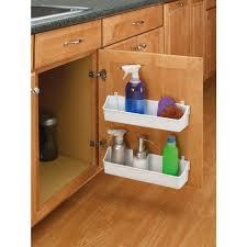 Kitchen Cabinet Door Storage Rev A Shelf 3 56 In H X 13 75 In W X 4 25 In D White Cabinet