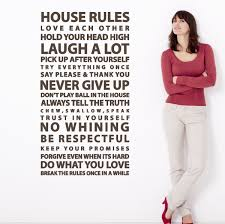 house rules sayings large wall decal easy application vinyl