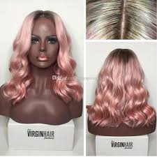 are there any full wigs made from human kinky hair that is styled in a two strand twist for black woman sf pink human hair wigs with baby hair natural hairline ombre full