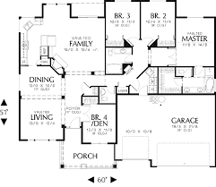 floor plans craftsman well planned craftsman home 6896am architectural designs