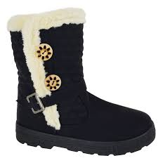 womens boots on ebay womens quilted winter fur lined fashion ankle boots