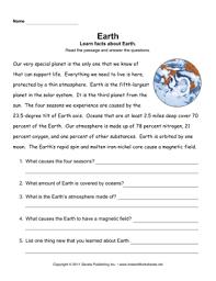 earth comprehension u2014 instant worksheets
