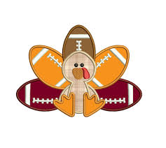 football turkey thanksgiving applique machine embroidery