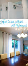 Easy Sew Curtains How To Sew Curtains With Grommets For Only 45 A Houseful Of