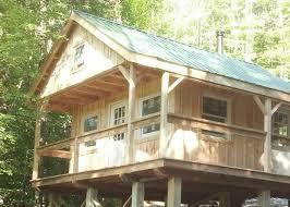 16x24 post and pier cabin vermont cottage option c jamaica cottage shop