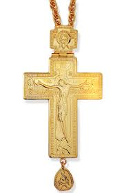 pectoral crosses for sale priest pectoral large cross with chain gold gilded at holy