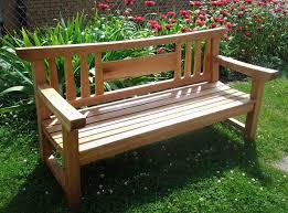 Garden Bench Ideas Stunning Simple Wood Garden Bench Plans On Exterior Design Ideas