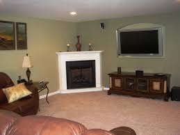 living room wonderful corner fireplace decorating ideas with