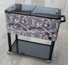 indoor outdoor cooler cart with wheels 20 gallon steel patio