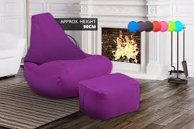 gaming beanbag with matching footstool 7 colours