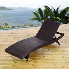 Wicker Patio Lounge Chairs Outsunny Reclining Pe Rattan Wicker Patio Lounge Chair Aosom Ca