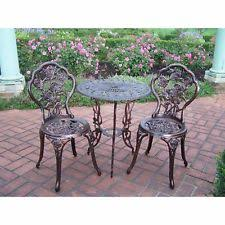 oakland living cast iron outdoor furniture sets ebay