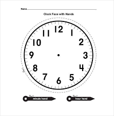 printable clock template without numbers printable clock templates 17 free word pdf format download
