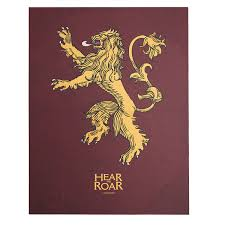 house lannister game of thrones house lannister sigil canvas zing pop culture
